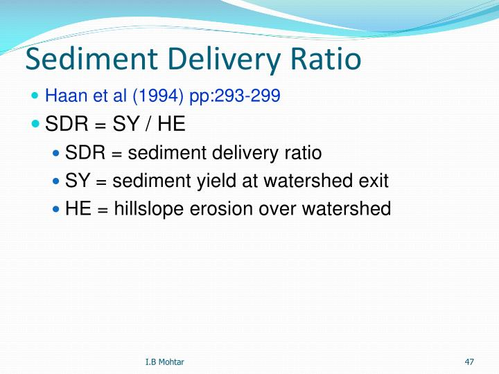 Sediment Delivery Ratio