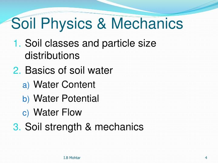 Soil Physics & Mechanics