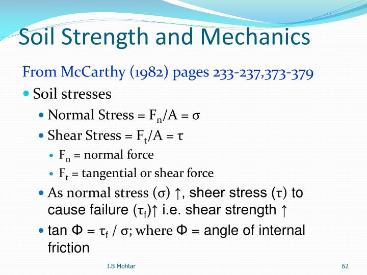 Soil Strength and Mechanics