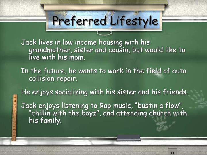 Preferred Lifestyle