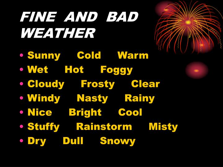 FINE  AND  BAD  WEATHER