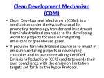 clean development mechanism cdm