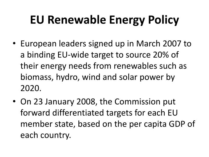 EU Renewable Energy Policy