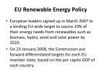 eu renewable energy policy