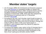 member states targets