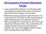 oil companies promote alternative energy
