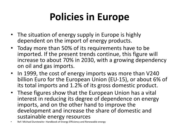 Policies in Europe