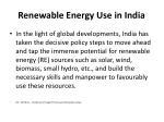 renewable energy use in india