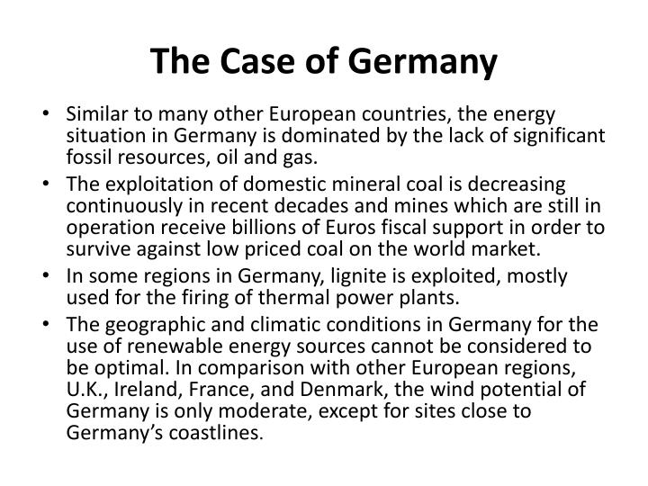 The Case of Germany