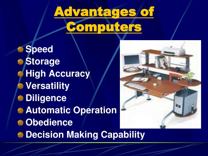 Advantages of Computers