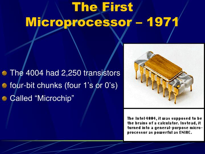 The First Microprocessor – 1971
