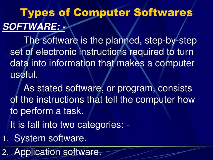 Types of Computer Softwares