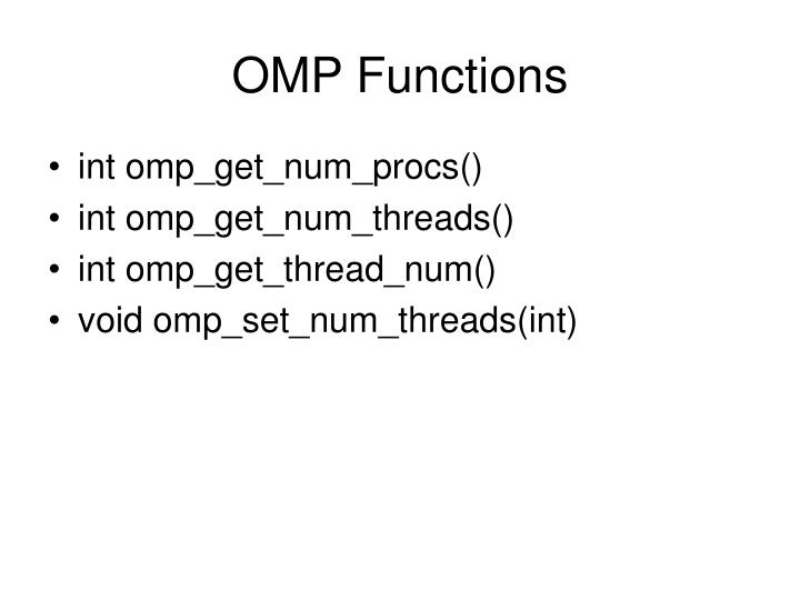 OMP Functions