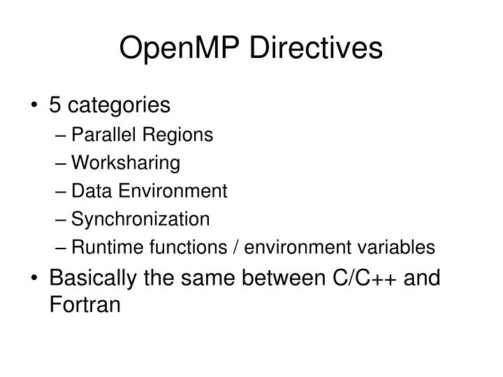 OpenMP Directives