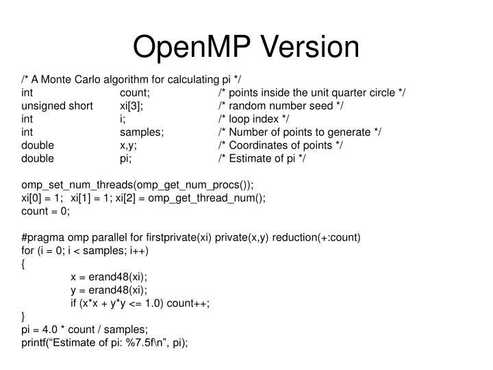 OpenMP Version