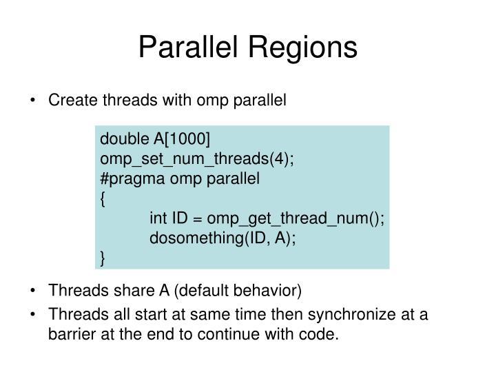 Parallel Regions