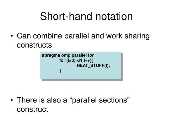 Short-hand notation