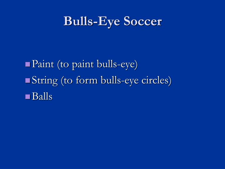 Bulls-Eye Soccer