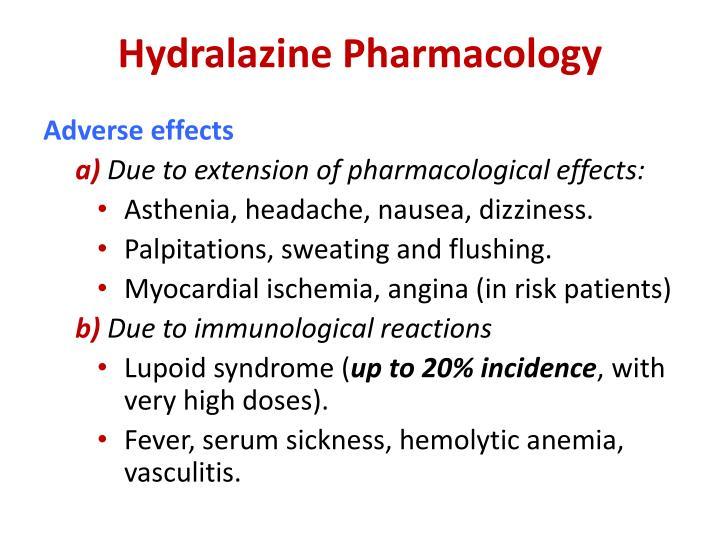 Hydralazine Pharmacology