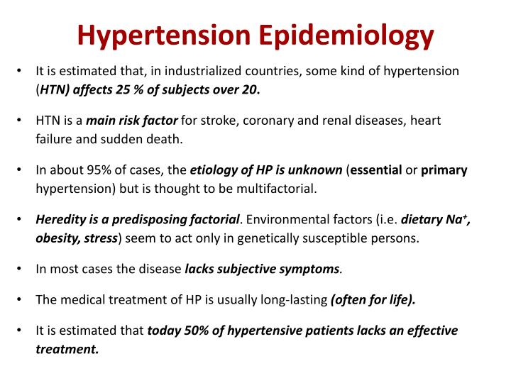 Hypertension Epidemiology