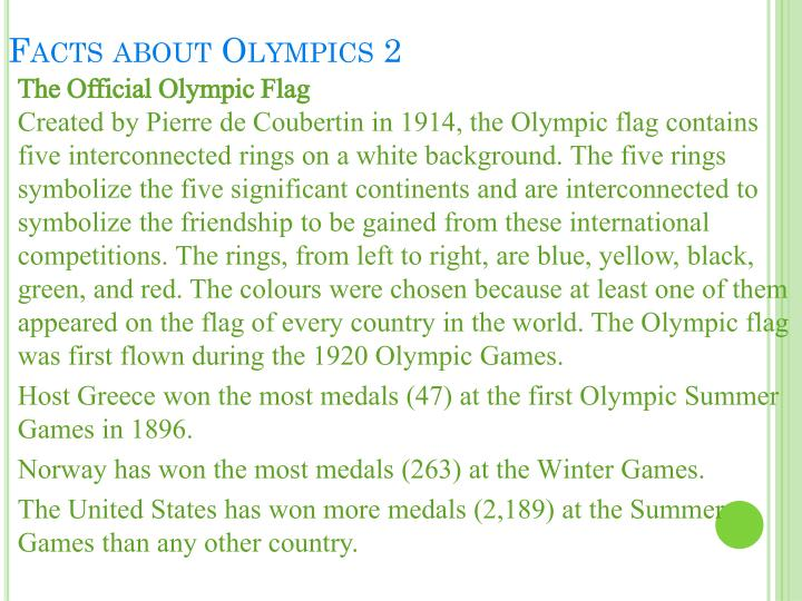 Facts about Olympics 2