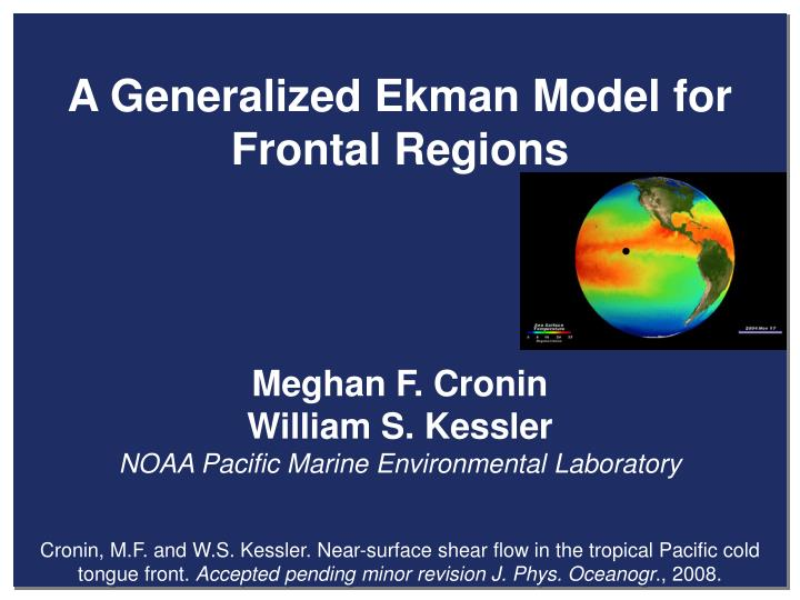 A Generalized Ekman Model for Frontal Regions