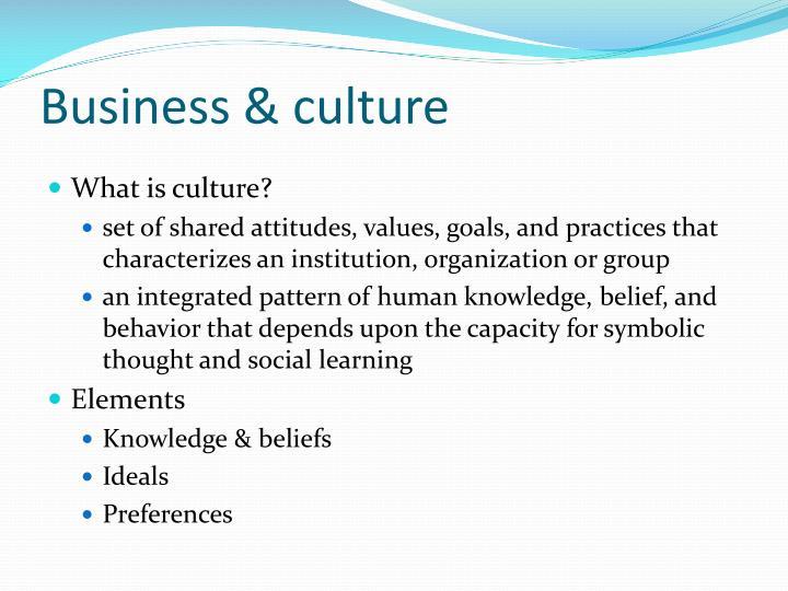 Business & culture