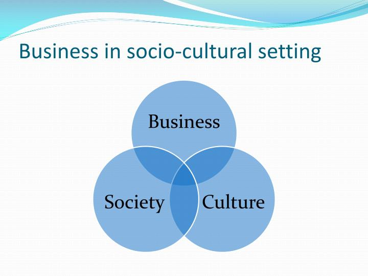 Business in socio-cultural setting