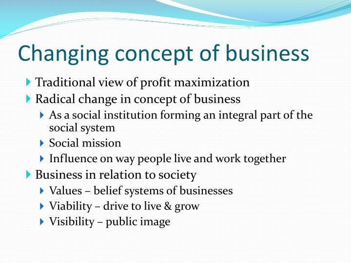 Changing concept of business