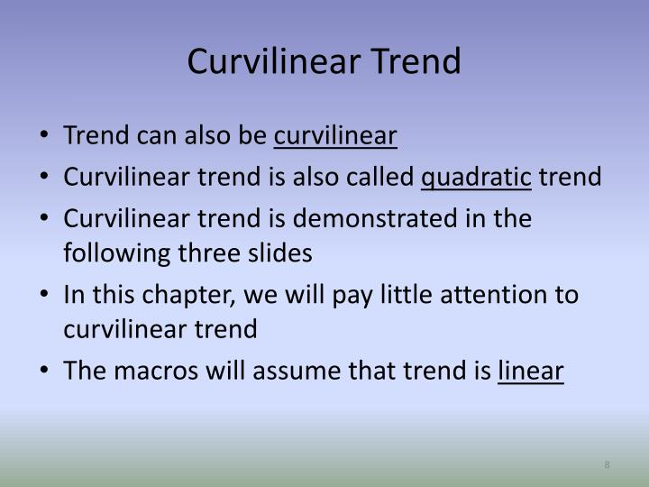 Curvilinear Trend
