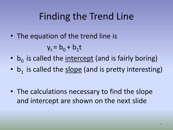 Finding the Trend Line