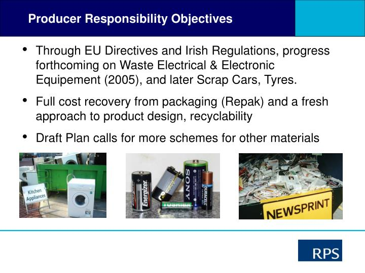 Producer Responsibility Objectives