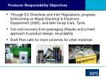 producer responsibility objectives
