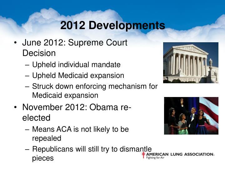 2012 Developments
