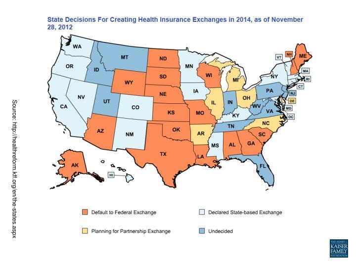 Source: http://healthreform.kff.org/en/the-states.aspx