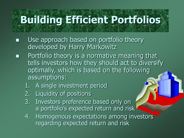 Building Efficient Portfolios