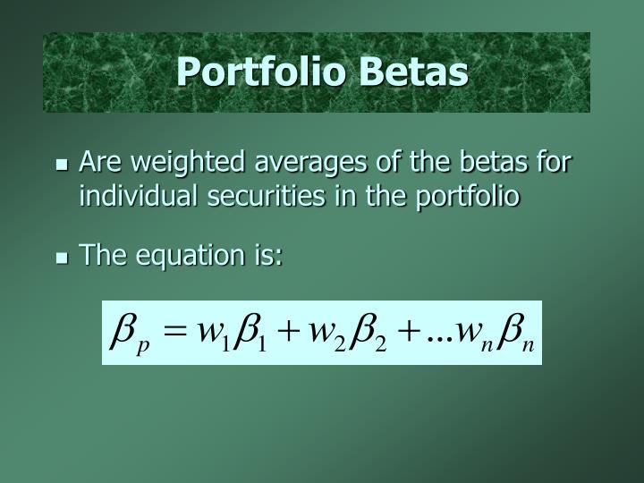 Portfolio Betas