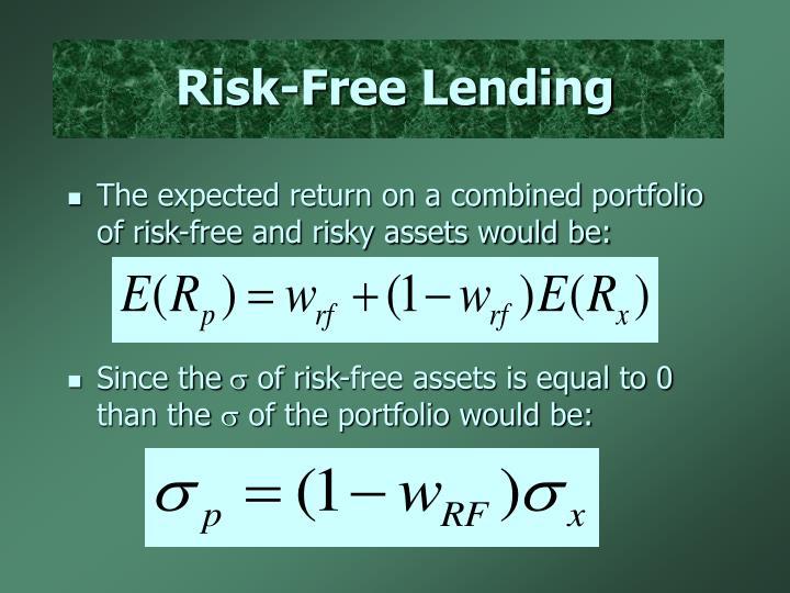 Risk-Free Lending