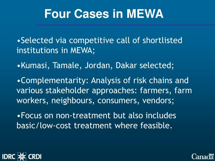 Four Cases in MEWA