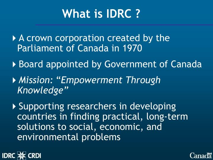 What is IDRC ?