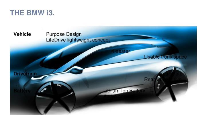 THE BMW i3.