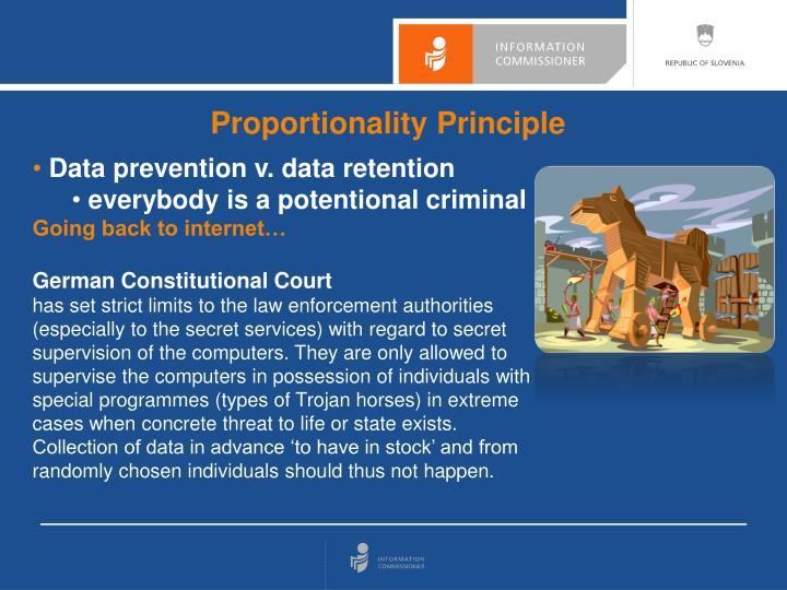 Proportionality Principle