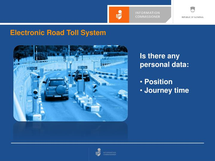 Electronic Road Toll System