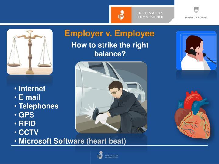 Employer v. Employee