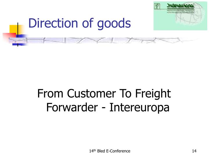 From Customer To Freight Forwarder - Intereuropa