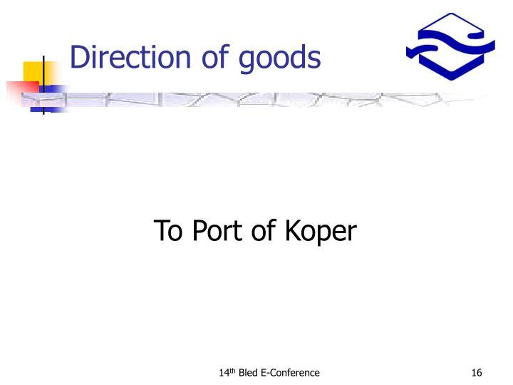 To Port of Koper