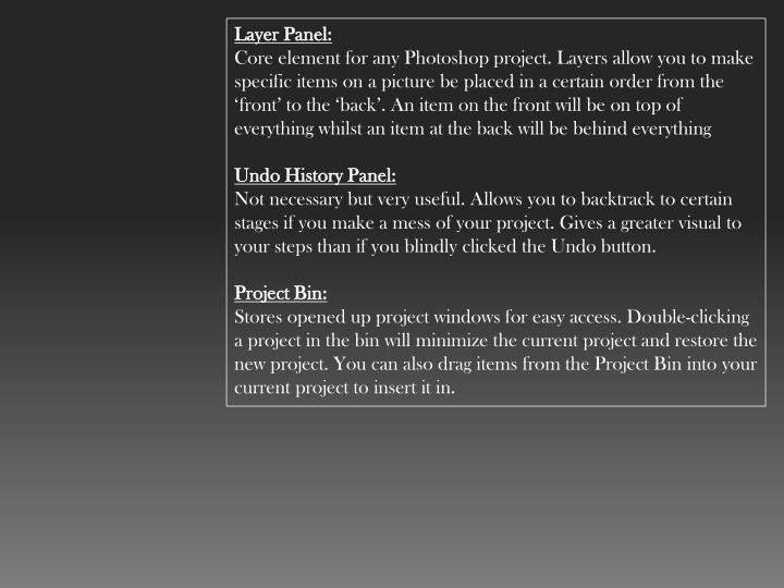 Layer Panel: