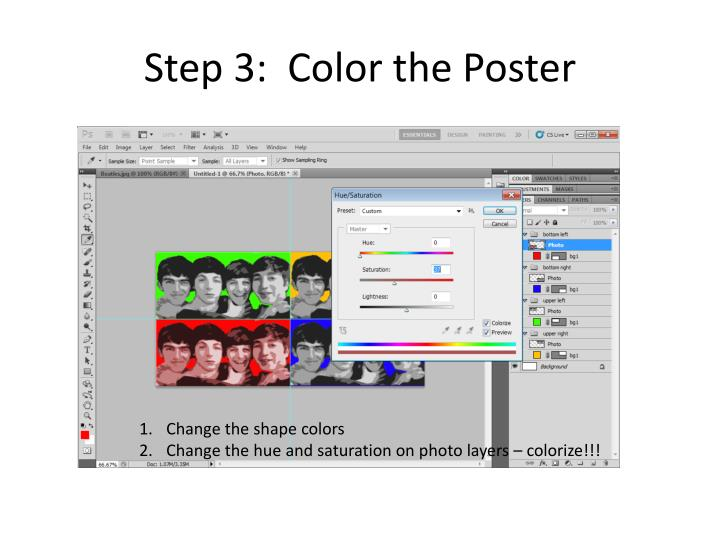 Step 3:  Color the Poster