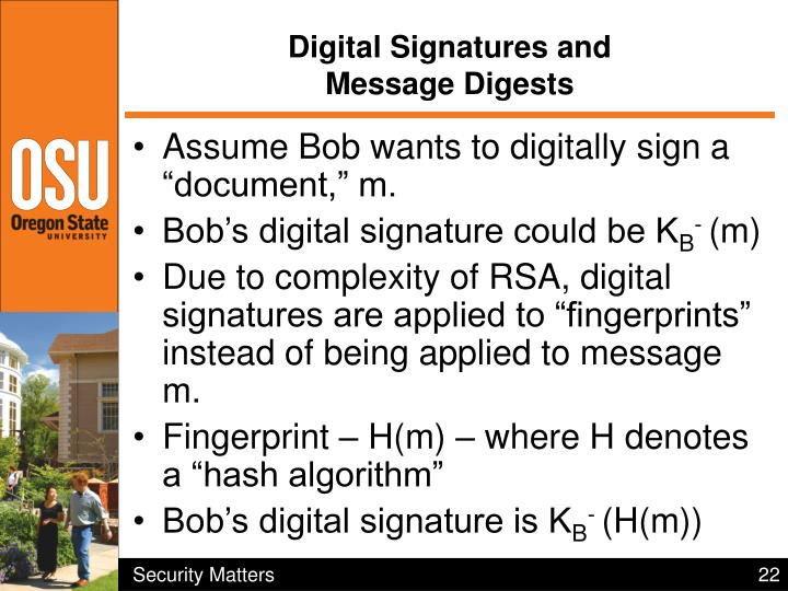 Digital Signatures and