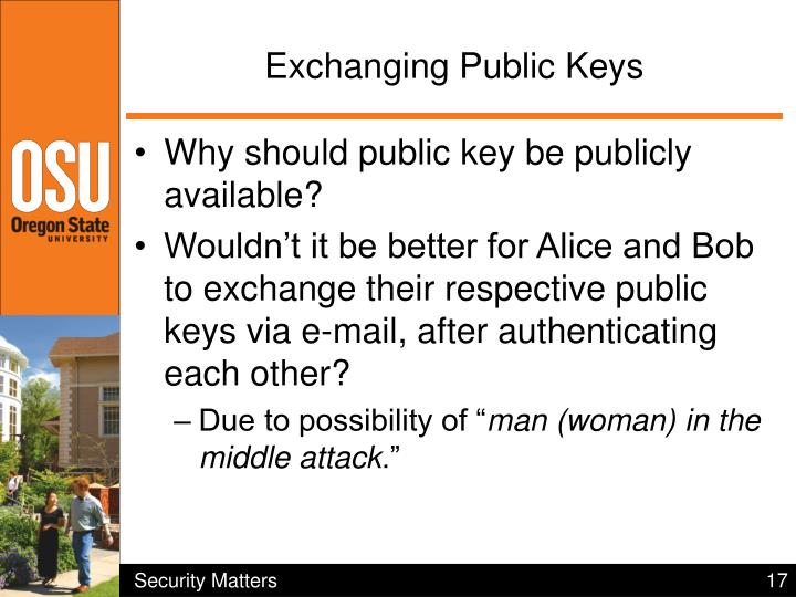Exchanging Public Keys